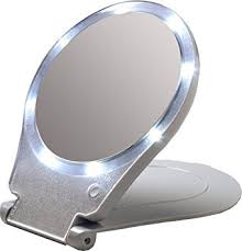 Lightweight Mirror For Wall Amazon Com Floxite Led Lighted Travel And Home 10x Magnifying