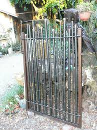 bamboo gate idea nicely done with the gunmetal steel colored