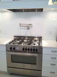 pot filler kitchen faucet decorating modern gas stove with pot filler faucet and corian