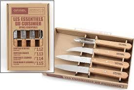opinel kitchen knife set 4 piece sandvik stainless steel beech