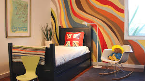 cool painting ideas that turn walls and ceilings into a statement colorful waves