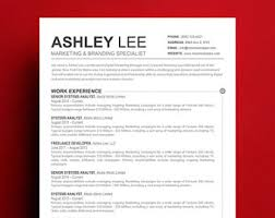resume template mac apple pages resume etsy