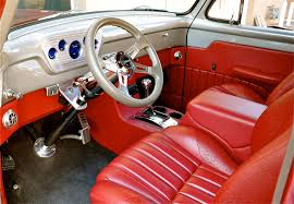 Ford Truck Interior 1955 Ford F100 Pickup Red Hills Rods And Choppers Inc St