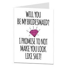 bridesmaid invitations uk will you be my bridesmaid card