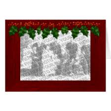 photo insert christmas cards insert greeting cards zazzle