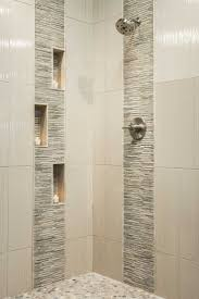 bathroom shower subway tile wooden unfinished powder vanity and