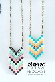 beads necklace images images Chevron perler bead necklaces jpg
