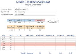 Hourly Timesheet Template Excel 11 Hourly Timesheet Calculator Service Letters