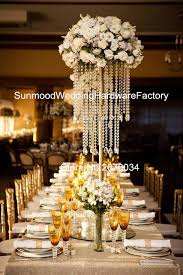wedding centerpieces for sale hot sale sliver iron with hangging wedding decoration