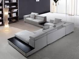Modern Sofa Chaise Modern Microfiber Sectional Sofa Foter