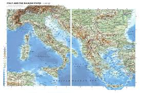 Geographical Map Of Europe by Large Detailed Physical Map Of Italy And The Balkan States With