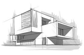 architectural house modern style architecture house sketch with sketch of modern building