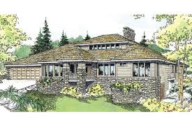Luxury Craftsman Home Plans by Prairie Style House Plans Elmhurst 30 452 Associated Designs
