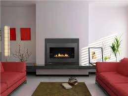 Decorating With Red Sofa Decorating Beautiful Corner Gas Fireplace For Home Interior