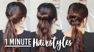 quick and easy hairstyles for running 1 minute running late hairstyles quick easy hair tutorials youtube