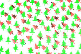 photo of red and green trees free christmas images