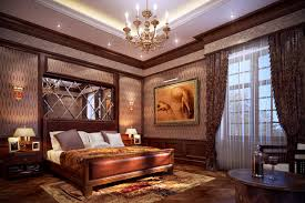 best colorfull romantic bedroom design with classic hang lamp