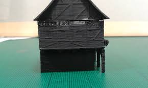 3d printed another tudor style house for wargaming by jerrycon