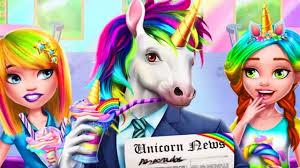 fun games for girls unicorn food rainbow glitter ice cream