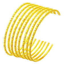set of gold buy 22crt gold plated bangle set of 6 online best prices in