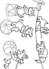 coloriages de petits chiens du cirque tête à modeler