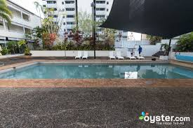 the outdoor lap pool at the rydges esplanade resort cairns