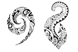 collection of 25 polynesian turtle and symbol tattoos on back