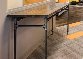 industrial butcherblock table vivo design studios viewpoint prevnext industrial butcherblock table