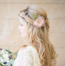 wedding hair flowers pink hair flower
