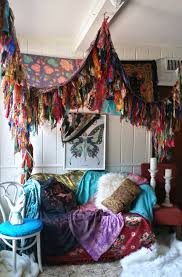 Fringe Home Decor by Bohemian Bed Canopy Boho Hippy Vintage Scarves Gypsy Hippie