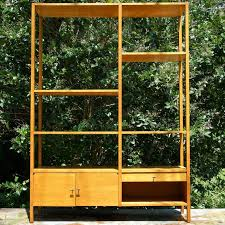 Wall Divider Bookcase 1950s Paul Mccobb Planner Group Room Divider Bookcase Wall Unit