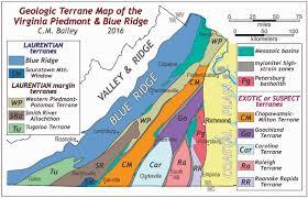 Blue Ridge Mountains Map Piedmont The Geology Of Virginia