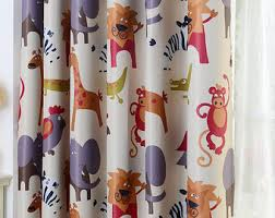 Monkey Curtains For Baby Room Nursery Curtains Etsy