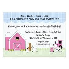 farm animal birthday invitations u0026 announcements zazzle