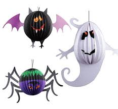 Paper Hanging L 2017 3pcs L Paper Lanterns Spider Bat Ghost Shape