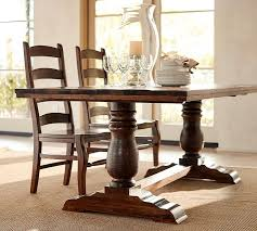 reclaimed wood rustic dining room table furniture bowry reclaimed wood dining table pottery barn