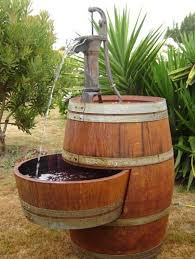 barrel furniture for garden