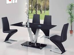 black glass dining room table and chairs pleasing glass dining