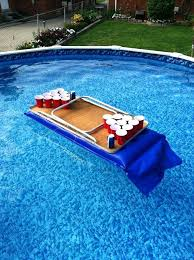 floating table for pool improvised pool beer pong table beer pong table designs floating