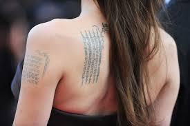 angelina jolie coordinates tattoo tattooic