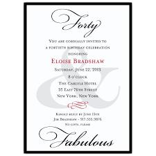 birthday invitation words 40th birthday invitation wording ideas amazing invitations cards