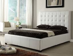 White Color Bedroom Furniture Athens White Queen Size Bed Athens At Home Usa Modern Bedrooms