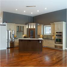 Grey Wood Floors Kitchen by Kitchen With White Cabinets And Wood Floors Top Home Design