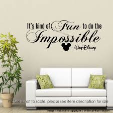 fun to see wall stickers home design ideas itu0027s kind of fun to do the impossible walt disney wall stickers quote wall decal