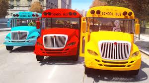 wheels on the bus go round and round hulk spiderman frozen kids