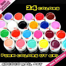 20202h new products pure color uv gel mixing paint colors gel nail