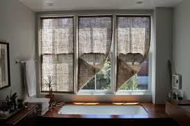 Colored Burlap Curtains The Shingled House Burlap Window Shades