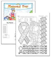 memorial day worksheets edhelper com
