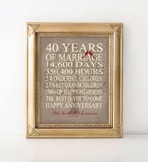 40 anniversary gift 50 inspirational wedding anniversary gifts 14 years wedding