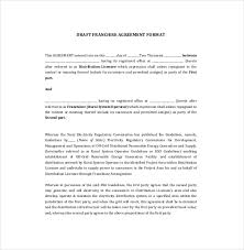 licensing agreement template free franchise agreement for business
